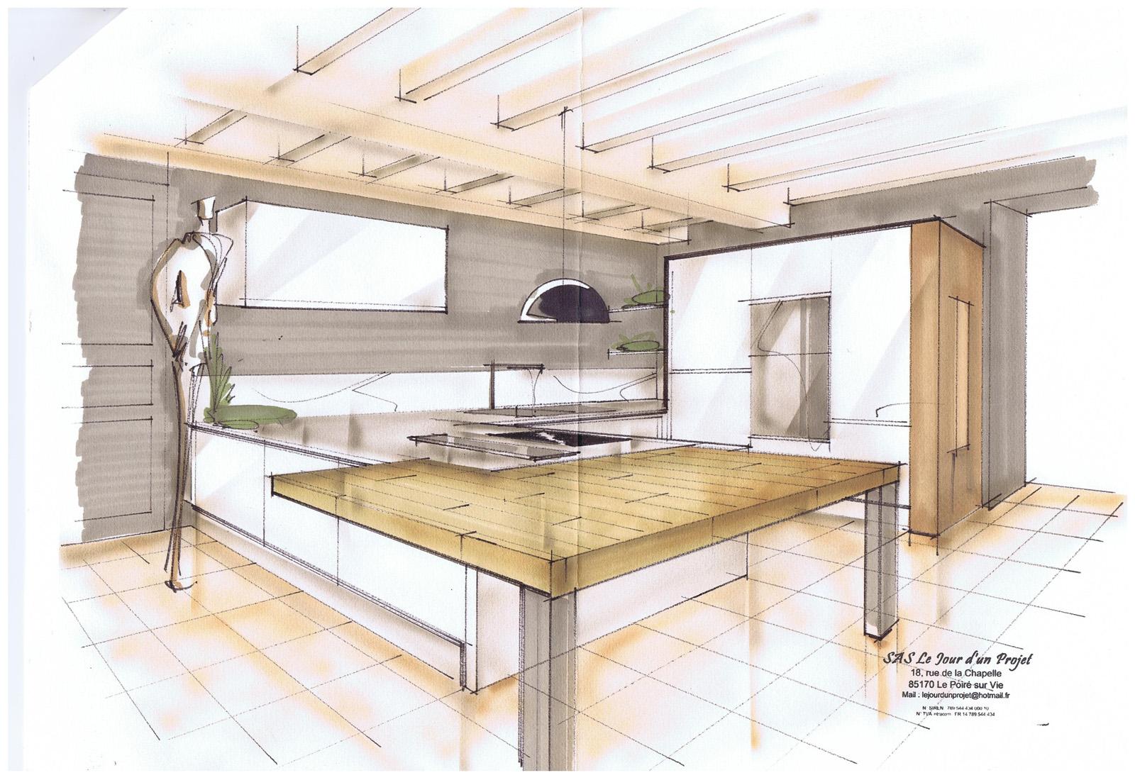 Cuisine maison de ma tre le poir sur vie for Plan suite parentale 15m2